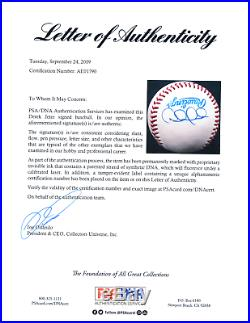 Derek Jeter single signed Brown OAL baseball pre-rookie 1995 with ticket rare PSA