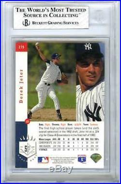 Derek Jeterrare 1993 Sp Foil #279 Bgs-7.5 Nr/mt+ 9&9.5 Subs Hot Rookie Rc Card