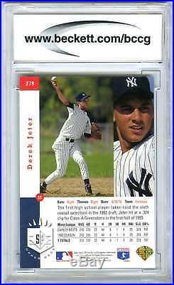 Derek Jeterrare 1993 Upper Deck Sp Foil Bccg-10 Mint+ Mlb Rookie Rc Card #279
