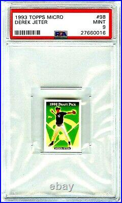 Derek Jeterrare Pop 3121993 Topps Micro Psa-9 Mint Rookie Rc Card #98 New Case