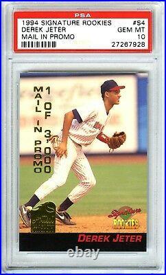 Derek Jeterrare (pop 219) 1994 Signature Rookies Psa-10 Gem-mt Promo Rc Card#s4