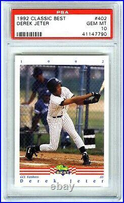 Derek Jeterrare (pop 332) 1992 Classic Best Psa-10 Gem-mt Rookie Rc Card #402
