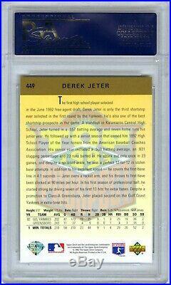 Derek Jeterrare (pop 718) 1993 Upper Deck Psa-10 Gem-mt Hot Rookie Rc Card #449