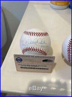 Derek jeter autographed signed baseball ball Set Steiner Extremely Rare