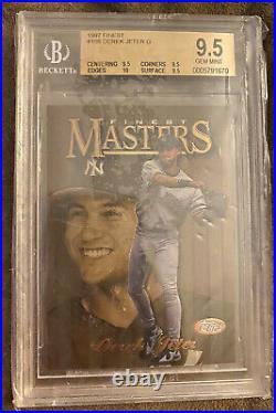 Finest Masters Derek Jeter Gold Bgs (9.5) 1997 Look Rare