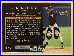 Future HOF Derek Jeter 1993 Pinnacle #457 ROOKIE CARD RARE GEM MINT 3465 HITS