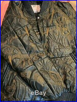 New York Yankees Jeff Hamilton (JH) Leather Jacket SIZE XL Rare Collectible