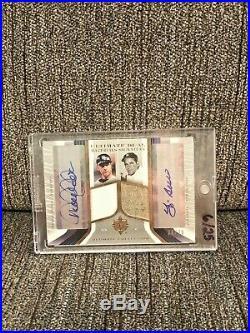 New York Yankees Yogi Berra Derek Jeter Patch Jersey Auto Signature 6/25 Rare