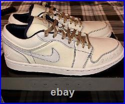 Nike Air Jordan 1 Derek Jeter Phat Low Canvas Size 10 Very Rare New Dead stock