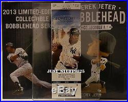 ONE (1) Derek Jeter Bobblehead SGA New Extremely Rare Yankee Stadium With Ticket