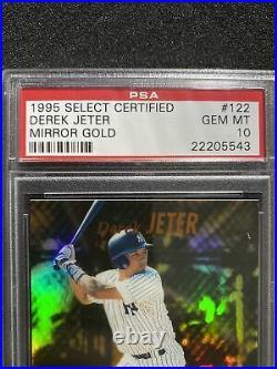 PSA 10 DEREK JETER 1995 Select Certified #122 MIRROR GOLD RC NY YANKEES Rare