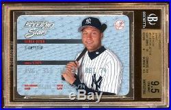 Pop 1 Bgs 9.5 Derek Jeter 2002 Stuido Stars /50 Platinum Rare Jeter 1 Bgs 9.5
