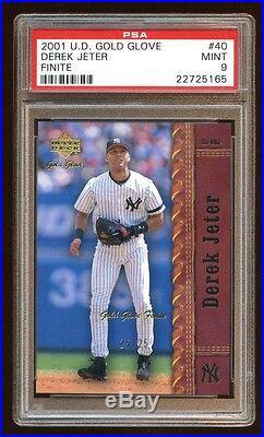 Psa 9 Derek Jeter 2001 Ud Gold Glove #d 25/25 Finite Impossible Find Rare Hof