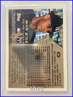 RAREDerek Jeter 1996 Topps Chrome Refractor New York Yankees #80