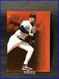 RARE 1996 Select Certified RED ROOKIE CARD RC Derek Jeter 100 Yankees Future HOF