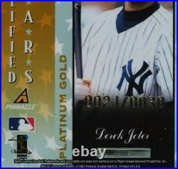 RARE 1997 Totally Certified Platinum Gold Derek Jeter /30 #141 PSA 10 GEM MINT