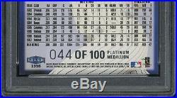 RARE 1998 Fleer Ultra Platinum Medallion #150P Derek Jeter #/100 PSA 7.5 NM+