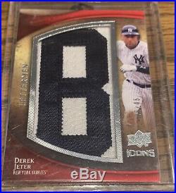 RARE 1/1 Complete Set Derek Jeter 2009 Upper Deck Icons Lettermen Yankees HOF