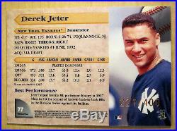 RARE 90s INSERT 1998 Bowman's Best #77 Derek Jeter /400 SP Refractor YANKEES
