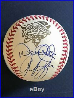 RARE! Derek Jeter Mike Piazza Dual Signed 2000 Official World Series Baseball