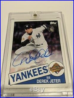 RARE! Derek Jeter Topps Employee Exclusive Autograph 1996 World Series 16/20