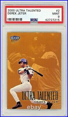 RARE POP 1 Derek Jeter 2000 Ultra TALENTED /99 PSA 9 Mint HIGHEST GRADED EXAMPLE
