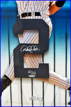 RARE Signed Framed Derek Jeter UDA Upper Deck Numbers Piece WS MVP LE 22 YANKEES