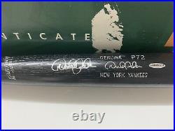RARE! UPPER DECK COA Derek Jeter P72 Louisville Slugger Autographed Auto Bat