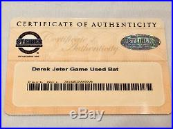 RARE Yankees Derek Jeter Game Used Autographed 2007 Louisville Slugger Bat