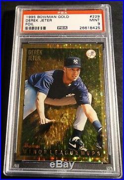 Rare 1995 Derek Jeter #229 Bowman Gold Foil Rookie Psa 9 Yankees Pop 34 (381)