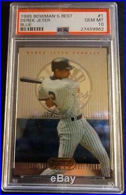 Rare 1995 Derek Jeter Bowmans Best Blue Rookie #1 Psa 10 Yankees Pop 52 (452)