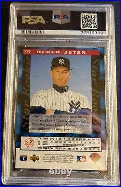 Rare 1995 Derek Jeter Upper Deck Electric Diamond #225 Psa 10 Pop 17 (734)