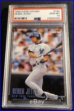 Rare 1996 Derek Jeter Fleer Tiffany Rookie #184 Psa 10 Pop 17 (541)