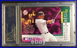 Rare 1996 Derek Jeter Leaf Bronze Gold Leaf Foil Rookie Psa 9 Pop 17