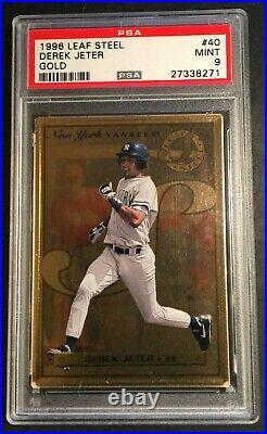 Rare 1996 Derek Jeter Leaf Steel Gold Rookie #40 Psa 9 Yankees Hof Pop 19 (271)