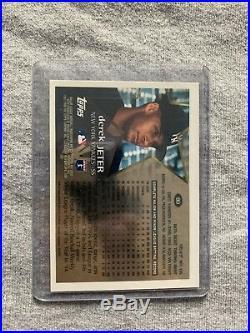 Rare 1996 Derek Jeter Topps Chrome Refractor Rookie #80