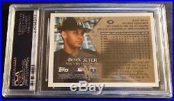 Rare 1996 Derek Jeter Topps Chrome Refractor Rookie #80 Psa 9 Pop 32 (615)