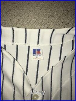 Rare 1999 WS Derek Jeter New York Yankees Russell Home Jersey 48