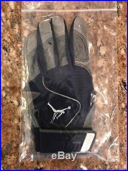 Rare 2009 Blue Version Derek Jeter Game Used Jordan Batting Glove Steiner Coa