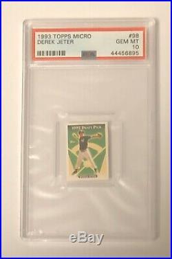 Rare Beauty- 1993 Topps Micro #98 Derek Jeter Psa 10 Gem Mint