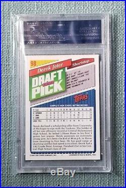 Rare Derek Jeter 1993 Topps Gold, Gem Mint PSA 10 #98 RC Rookie Card