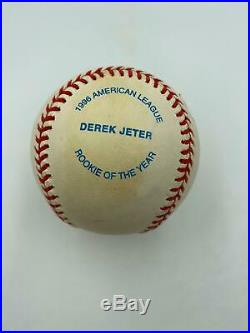 Rare Derek Jeter 1996 Rookie Of The Year Signed Special Edition Baseball JSA COA