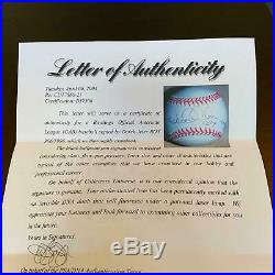 Rare Derek Jeter 1996 Rookie Of The Year Signed Special Edition Baseball PSA DNA