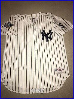 Rare Derek Jeter 1999 WS New York Yankees Russell On-Field Home Jersey 48 XL