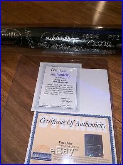 Rare Derek Jeter 2000 All Star Game MVP World Series MVP Signed Bat Steiner COA