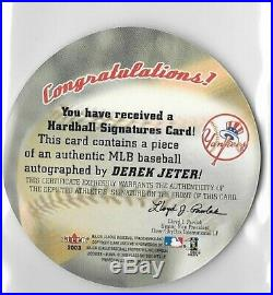 Rare Derek Jeter 2003 Fleer Harball Autograph Yankees