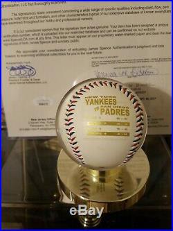 Rare! Derek Jeter Signed 1998 World Series Celebration Baseball-full Jsa Letter