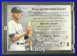 Rare Derek Jeter Signed Numbered Signature Bat Card 112/222
