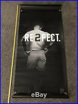 Rare Double Sided New York Yankees Derek Jeter THANKS Vinyl Street Banner HOF