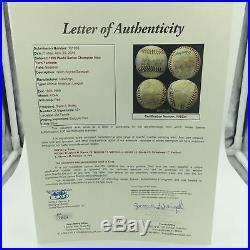 Rare September 6, 1996 NY Yankees Team Signed Game Used Baseball Derek Jeter JSA